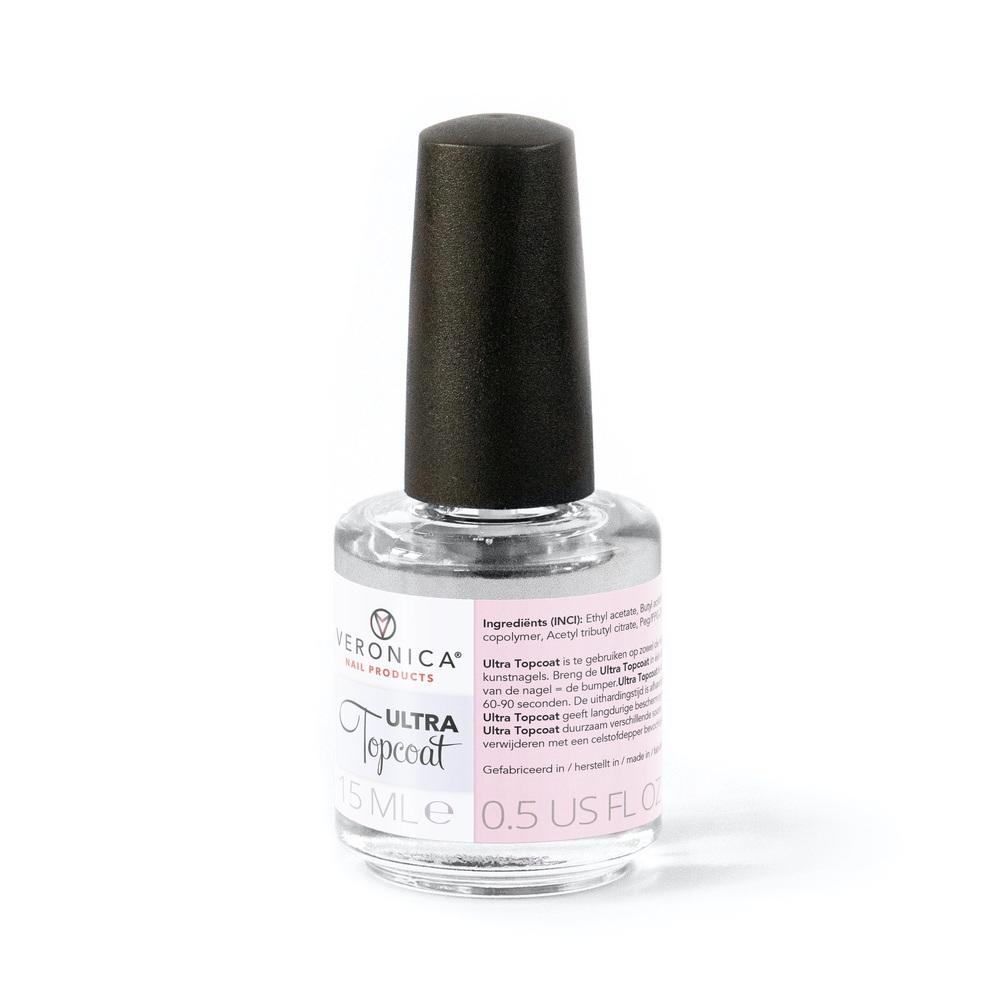 Sneldrogende TOPCOAT voor nagels, nagellak, kunstnagels (acrylnagels, gelnagels), nail art, 15 ml.