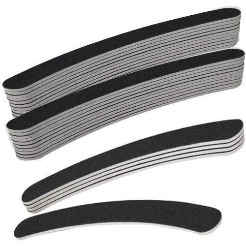 Goedkoopste boemerang vijl grit #100/180 in de kleur zwart, per 25 stuks. Voor kunstnagels (acryl nagels, gel nagels) én natuurlijke nagels.