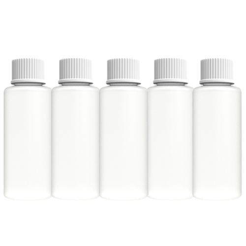 5 stuks leeg kunststof fles / plastic fles, inhoud 100 ml, kunststoffles voor acryl vloeistof (monomeer), nagel cleanser, nagellak remover, gellak remover, penseel reiniger, nagelriemolie enz.