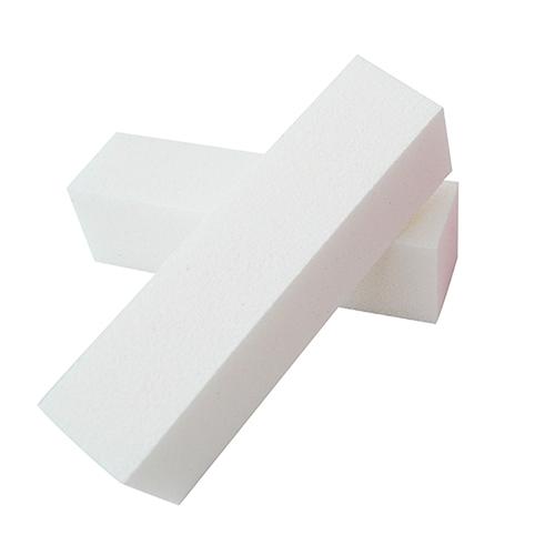 2x nagelblok / bufferblok / witte blok, wit.Voor opruwen / ontvetten natuurlijke nagel t.b.v. kunstnagels.