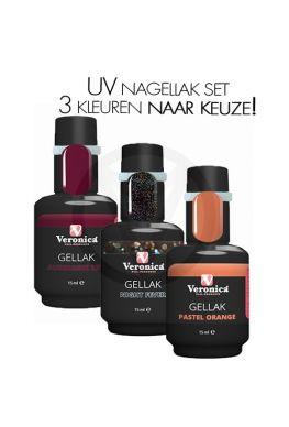 UV nagellak set, 3 kleuren NAAR KEUZE!