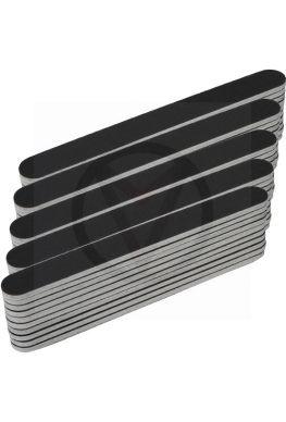 50 x rechte nagel vijlen, zwart
