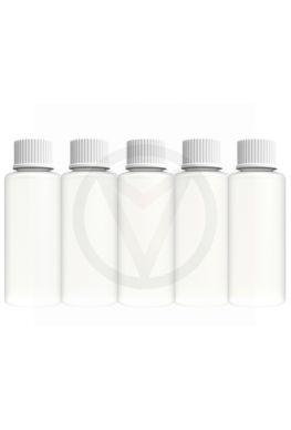 5 x kunststof fles leeg, 100 ml