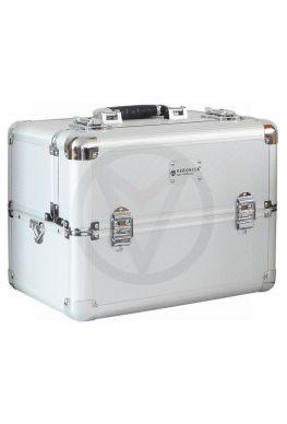 Aluminium beautycase nagelstyliste, ZILVER