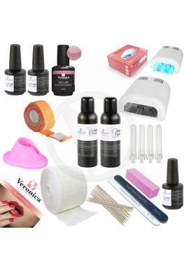 Gel nagellak - Gel lak - Gel polish beginnersset, starters pakket Glossy ' Electric Purple ',  compleet