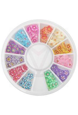 Carrousel FIMO nail art bloemen