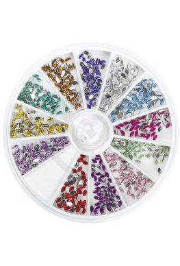 Carrousel nail art strass steentjes 'druppel'