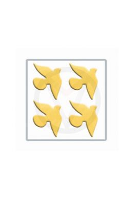 ZWALUW goud nail art inlay, nagelstickers 50 stuks