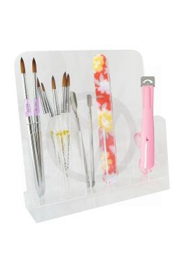 Acryl houder voor instrumenten, nagelvijlen, striper pennen