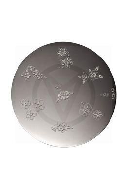 KONAD stamping plates M26 BLOEMEN