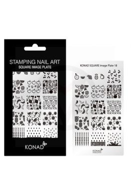 KONAD Square nagels stempel plaat 18 ' FRUIT '