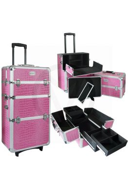 Makeup trolley 3 in 1 CROCO ROZE