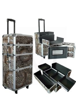 Aluminium nagel trolley 3 in 1 LEOPARD