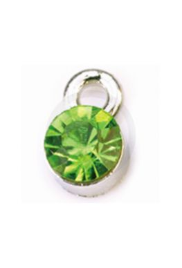 Nagelpiercing rond, groen
