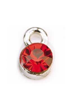 Nagelpiercing rond, rood