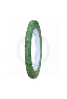 Nagel tape GLITTER GROEN, 3 mm