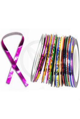 Striping tape voor nagels, ROZE LASER