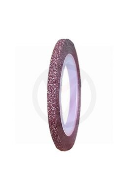 Stripe tape GLITTER ROZE, 3 mm