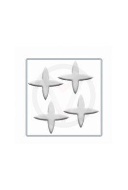STER zilver nail art inlay, nagelstickers 100 stuks