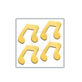 NOOTJE goud nail art inlay