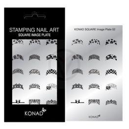 KONAD Square nagel stempelplaat 02 ' FRENCH MANICURE '