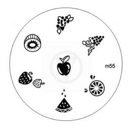 Nail art stempel plaatje M55