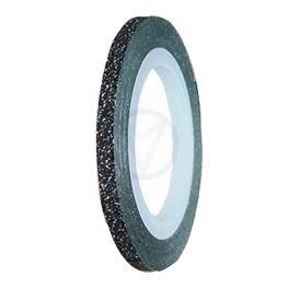 Striping tape GLITTER ZWART, 3 mm