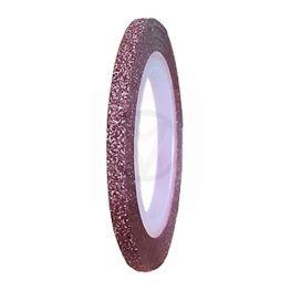Stripe tape GLITTER ROZE, 3 mm