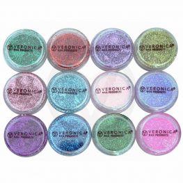 12x Glim nail art glitter poeder