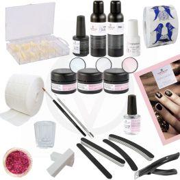 Veronica NAIL-PRODUCTS Starterspakket voor Acrylnagels, kunstnagels starterset, beginnerspakket