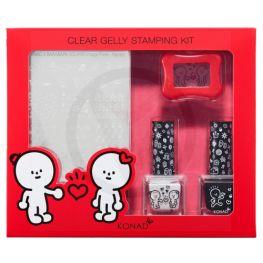 KONAD Barabapa clear gelly stamping kit ' HAPPY '