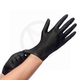 Nitril handschoenen asyglide & grip ZWART, maat XL