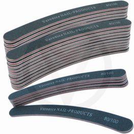 25x boomerang nagelvijl # 80/100, zwart