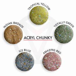 Chunky glitter mix acryl poeder 10 gram