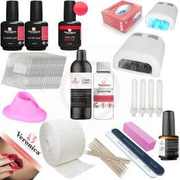 Gel nagellak - Gel lak - Gel polish starter set, starters pakket GLOSSY ' Neon Pink ', compleet