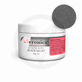 Color acryl poeder BLACK VELVET, 10 gram