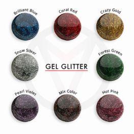 UV glitter gels, 5 ml
