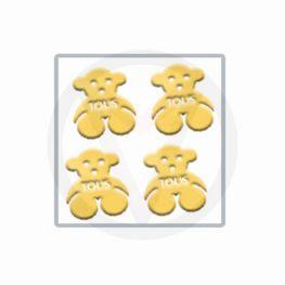 BEERTJES goud nail art inlay, nagelstickers 30 stuks
