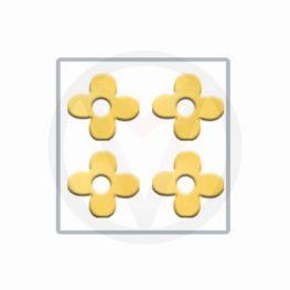 BLOEM goud nail art inlay, nagelstickers 100 stuks