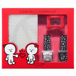 KONAD Barabapa clear gelly stamping kit ' HAPPY '