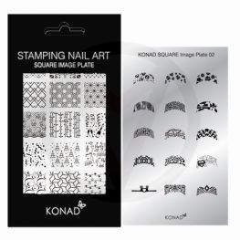 KONAD Square nagel stempelplaat 02 ' FRENCH MANICURE '