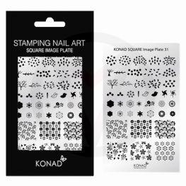 KONAD Square nagels stempel plaat 31 ' SPRING '