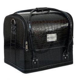 Nagel koffer, Croco zwart