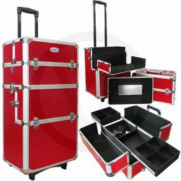 Aluminium nagel trolley 3 in 1 CROCO ROOD