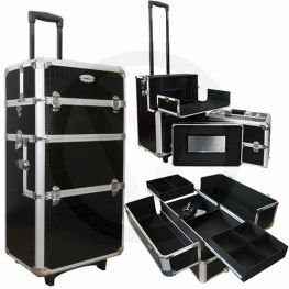 Aluminium nagel trolley 3 in 1 CROCO ZWART