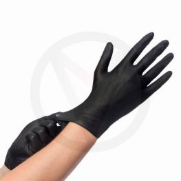 Nitriel handschoenen ZWART Easyglide, maat M