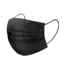 Niet-medisch mond-en neusmasker met oor-elastieken ZWART, 10 stuks