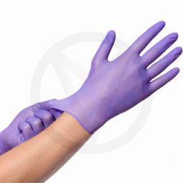 Werkhandschoenen van nitril PAARS Easyglide & grip, maat XL