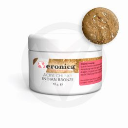 Chunky glitter mix acryl poeder 10 gram: INDIAN BRONZE