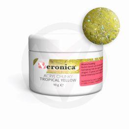 Chunky glitter mix acryl powder, TROPICAL YELLOW 10 gram